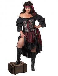 Mäktig piratdrottningen - Maskeraddräkt för vuxna i stor storlek