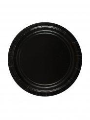 8 svarta tallrikar - Halloweendukning 18 cm