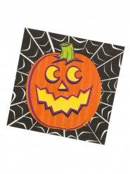 16 pappersservetter med pumpatryck - Halloweendukning