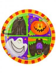 10 Happy Halloween papptallrikar 23 cm