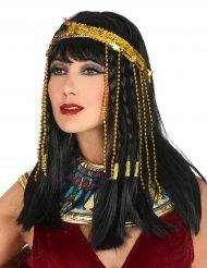 Egyptiskt pannband i guld med paljetter för vuxna