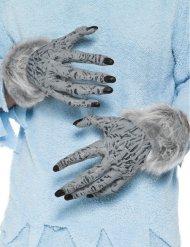 Gråa vampyrhänder för vuxna - Halloween tillbehör