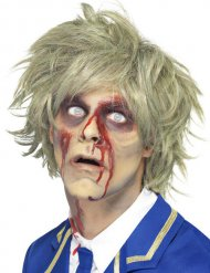 Kort zombie perruk - Halloween Perruker