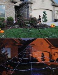 Jättenät tll trädgården - Halloweendekoration 7 x 6 m