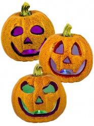 Lysande pumpa klädd i paljetter till Halloween
