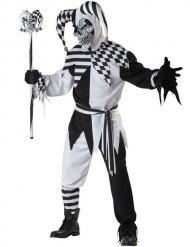 Läskig hovnarr - Halloweenkostym med mask