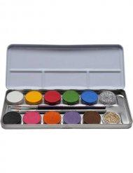 Palett med 10 färger och glitter