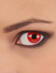 Röda djävulslinser för vuxna - Halloweensminkning