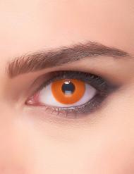 Orangea kontaktlinser