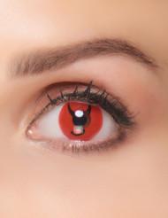 Röda fantasilinser till Halloween