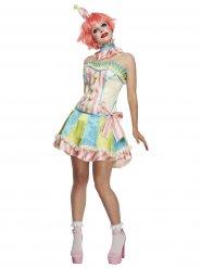 Sockersöt clowndräkt för vuxna till maskeraden