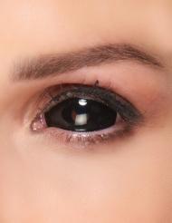 Fantasi sklera linser i svart för vuxna - Halloween sminkningen