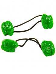 2 Hårband med gröna hjärnor