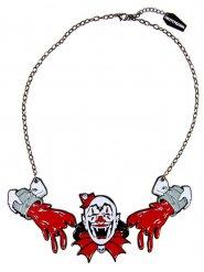 Kusligt clown halsband för vuxna från Kreepsville - Halloween tillbehör