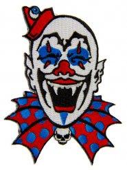 Tygmärke med vampyrclown 11x9 cm