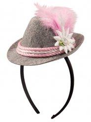 Skåla i rosa - Minihatt till oktoberfest för vuxna