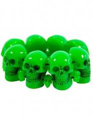 Grönt armband med dödskallar