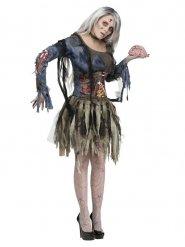 Zombiefröken - Halloweenkostym för vuxna