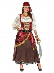 De sju havens drottning - Lyxig piratdräkt för vuxna