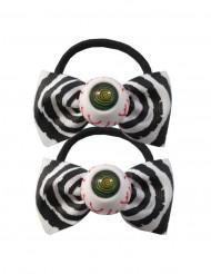 2 elastiska hårband med ögon