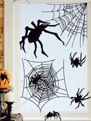 20 spindelklistermärken - Halloweendekoration