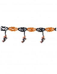 Häxgirlang i svart och orange till Halloweenfesten 3 m