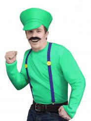 Grön datorspelsfigur herrdräkt
