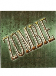 12 zombieservetter till Halloweendukningen