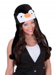 Plyschig pingvinmössa
