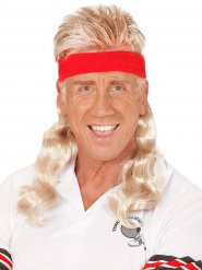 Blond hockeyfrilla vuxenperuk