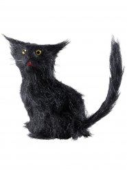 Svart katt - Halloweendekor 12 cm