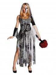 Bruden skelett - Halloweenkostym för vuxna