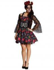 Calavera dia de los muertos - Halloweenkostym för vuxna