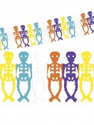 Färgad skelettgirland till Dia de los Muertos
