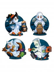 4 Halloween-klistermärken