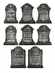 4 gravstenar av kartong - Halloweendekoration