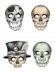 Skelettgänget - 4 Kartongmasker till Halloween