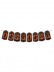 Häxdans - Halloweenslinga i svart och oranget 360 x 19 cm