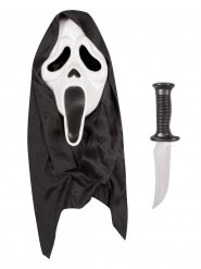 Scream™ Halloweenmask och kniv