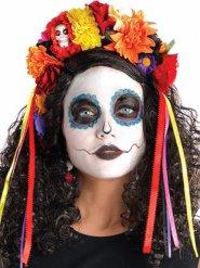 Blomsterkrans till Dia de los muertos - Halloweentillbehör