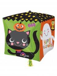 Happy Halloween ballong i kubformat - Halloween pynt