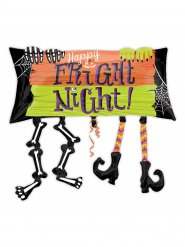 Aluminium Ballong Happy Fright Night - Halloween pynt