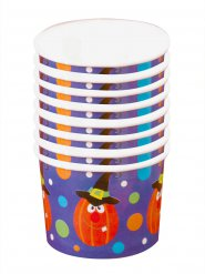 8 Pumpabägare till Halloween 5,5 x 8,5 cm