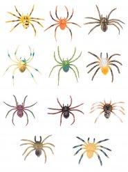 Mångfärgad spindel i plast till Halloween