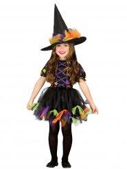 Prickig häxa - Halloweenkostym för barn