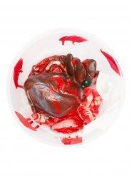 Dekorativt utslitet hjärta 17.5*7.5 cm - Halloween pynt