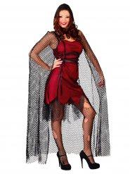 Sexig virkad vampyrlångsjal - Halloween tillbehör