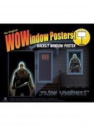 Jason Voorhees klistermärke för fönster 91x152 cm