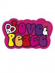 Love & Peace - Dekoration till hippiefesten