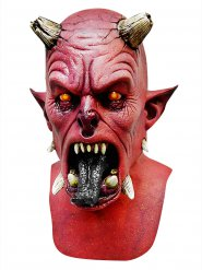 Röd djävulsmask Halloween